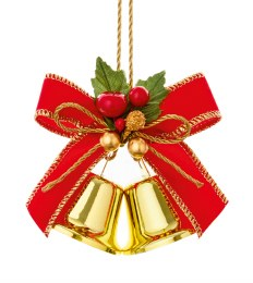 Christmas Gold Bells Decoration 15cm