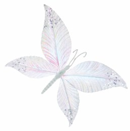 Christmas Butterfly White with Glitter 26x17cm