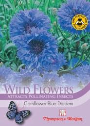 Wild Flower Cornflower Blue Diadem