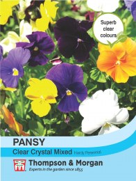 Pansy Clear Crystal Mix