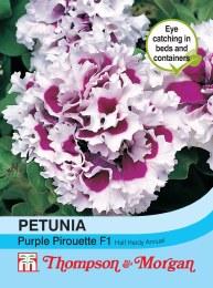 Petunia Purple Pirouette F1