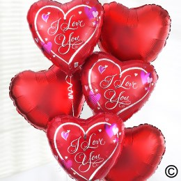 Add a 'I Love You' Balloon Bouquet