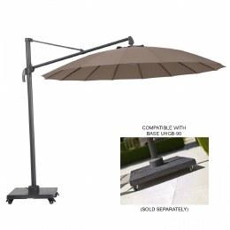 Alexander Rose 3m Aluminium Cantilever Ribbed Parasol Taupe - UH30TA