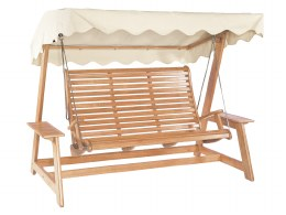 Alexander Rose Swing Seat Mahogany With Green or Ecru Canopy