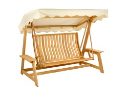 Alexander Rose Swing Seat Roble With Green or Ecru Canopy