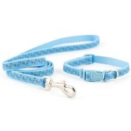 Ancol Blue Paw 'n' Bone Puppy Collar & Lead Set