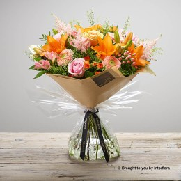 Apricot Ardour Hand-tied