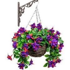 Artificial Fuchsia Hanging Basket 30cm