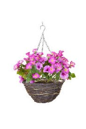 Artificial Petunia Hanging Basket 30cm
