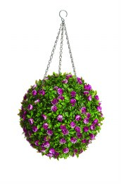Artificial Topiary Ball Rose 30cm