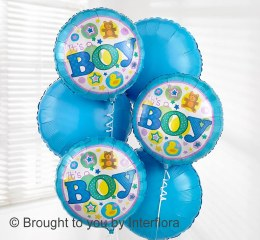 Add a Balloon 'It's A Boy' Bouquet