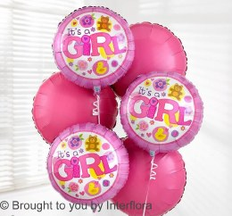 Add a Balloon 'It's A Girl' Bouquet