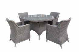 Bespoke Barcelona 4 Seater Weave Set With 120cm Table - Summer Sale