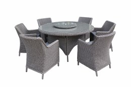Bespoke Barcelona 6 Seater weave Set With 150cm Table & Lazy Susan - Summer Sale