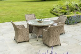 Bespoke Grand 4 Seater Set With 120cm Table - Summer Sale