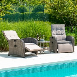 Alexander Rose Bespoke Grand Duo Recliner Set With Side Table
