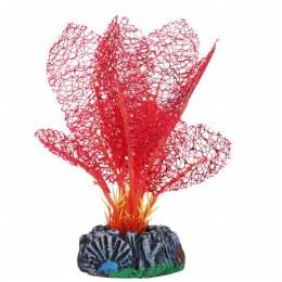 Betta 13cm Silk Red Lace Plant