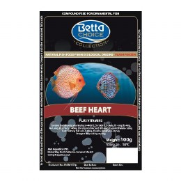 Betta Choice Beef Heart Blister Pack
