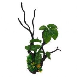 Betta Driftwood and Plant Decor 39cm