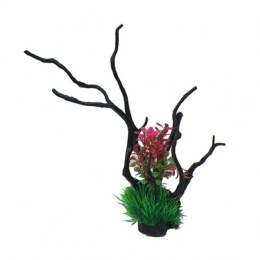 Betta Driftwood Pink and Green Plant