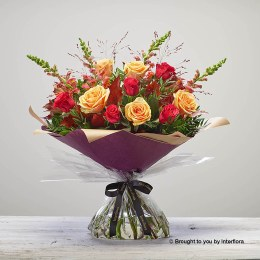 Bonfire Rose Hand-tied Large