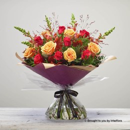 Bonfire Rose Hand-tied Extra Large