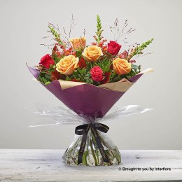 Bonfire Rose Hand-Tied