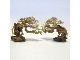 Aquarium Ornament Bonsai Stork Wood Small