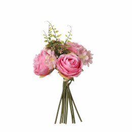 Artificial Bouquet Hydrangea Rose Pink