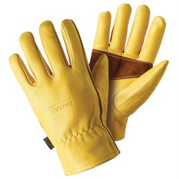 Premium Leather Gloves Gold Large