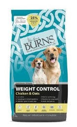 Burns Weight Control Chicken & Oats Adult & Senior Dog Food 6kg