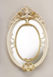Christmas Ivory Gold Farme With Mirror  50x31cm