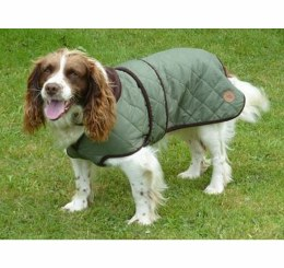 Quilted Dog Coat Green 45cm