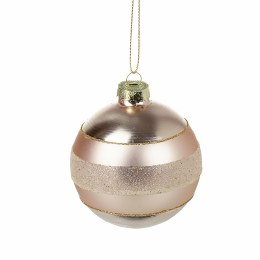 Christmas Champagne Glass Bauble with Hanger 8cm