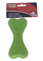 Cheeko Tuff Time Rubber Bone Green 13cm