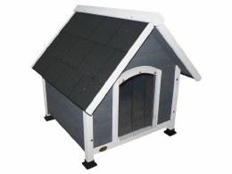 Cheeko Apex Dog Kennel Grey Small 71x76x74cm