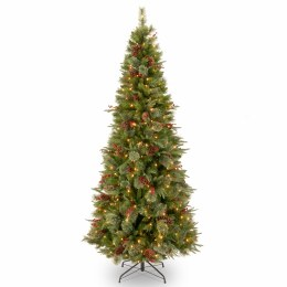 Colonial 7.5 Foot Pre-Lit Artificial Christmas Tree With 400 Warm White Lights
