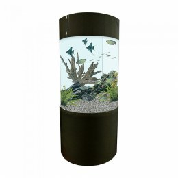 Column Aquarium Fish Tank Gloss Black 147 Litre