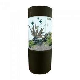 Column Aquarium Fish Tank Gloss Black 80 Litre