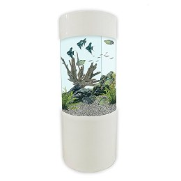 Column Aquarium Fish Tank Gloss White 80 Litre
