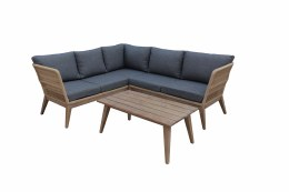 Bespoke Costa Corner 4 Seater Sofa Suite With Hardwood  Coffee Table - Summer Sale