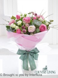 Country Living Spring Pinks Hand-Tied