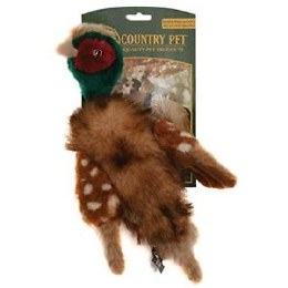 Country Pet Rope Pheasant with Squeaker Large