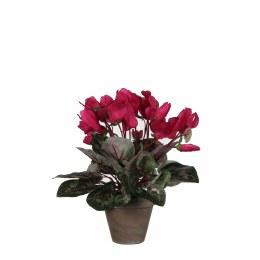 Artificial Cyclamen Plant Dark Pink