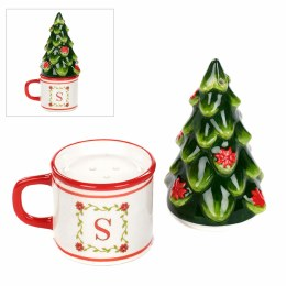 Christmas Salt and Pepper Mug and Christmas Tree Set 12cm