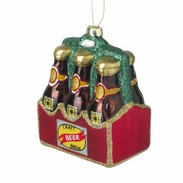 Christmas Bauble Glass Hanging Craft beer Decoration 8.8x11.2cm