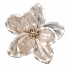Christmas Champagne Gold Magnolia on Clip 18cm