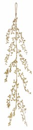 Christmas Glitter Leaf Garland Gold 150cm