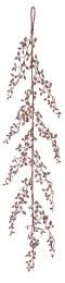 Chrismas Glitter Leaf Garland Pink 150cm