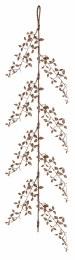 Chrismas Glitter Leaf Garland Rose Gold 150cm